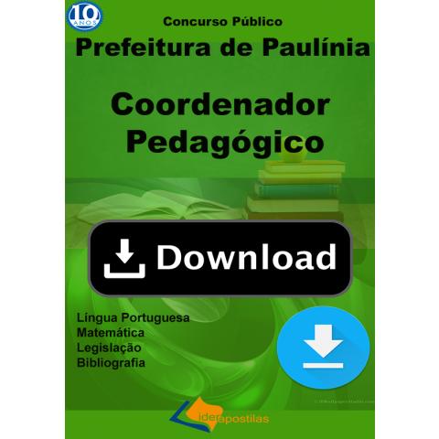 Apostila Coordenador Pedagógico Prefeitura Paulinia Download