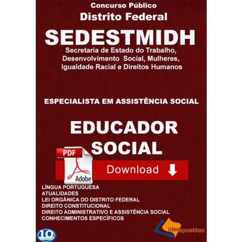 Apostila educador social Distrito Federal