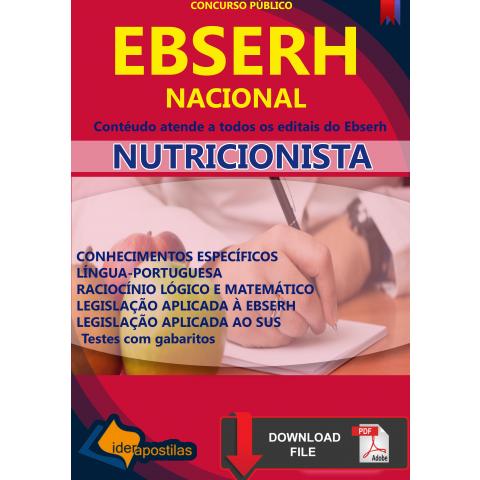 Concurso Nutricionista Ebserh 2019