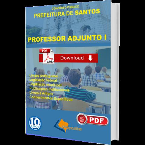 Apostila Professor Adjunto I Prefeitura Santos
