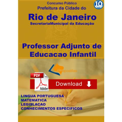 Apostila Professor Educação Infantil Rio Janeiro