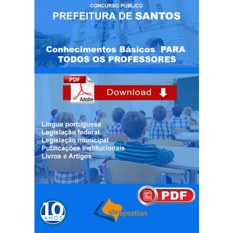Apostila Professor Prefeitura Santos