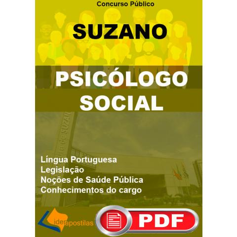 concurso psicologo social suzano