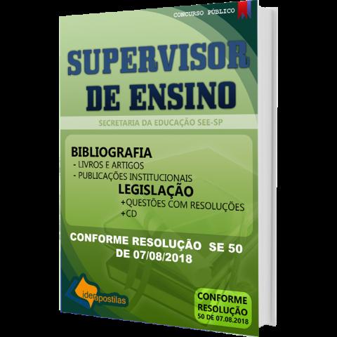 Apostila Concurso Supervisor de Ensino - SEE  SP - 2018
