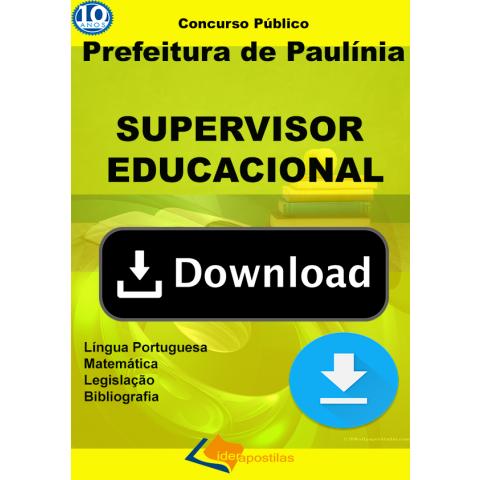 Apostila Supervisor Educacional Paulinia