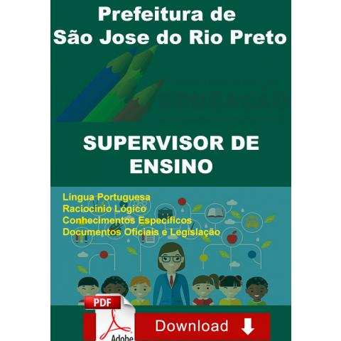 Apostila Supervisor de Ensino S Jose Rio Preto Download