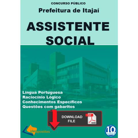 Apostila Assistente Social Prefeitura Itajai