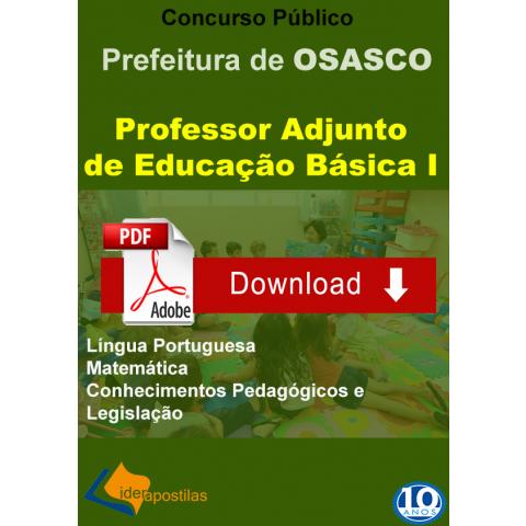 Apostila Professor Educação Básica I - Osasco digital