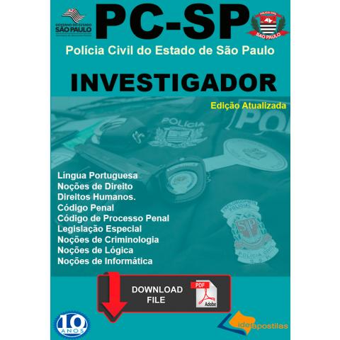Apostila Investigador Polícia Civil SP