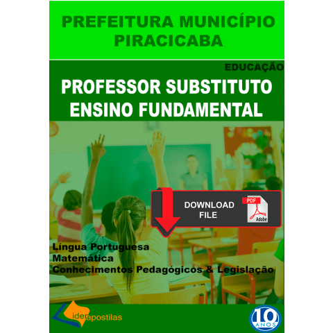 Professor Substituto Ensino Fundamental Piracicaba