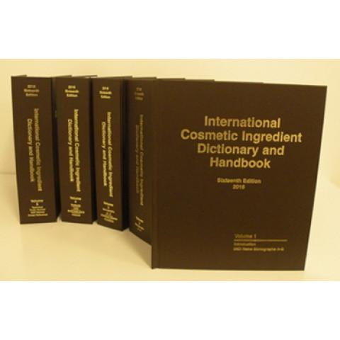 International Cosmetic Ingredient Dictionary & Handbook, 16th Edition
