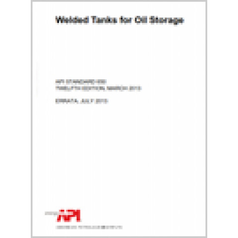 API Standard 650 Welded Tanks for Oil Storage, 13th Edition 2020