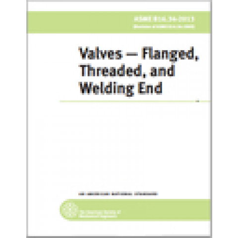 ASME B16.34 – 2017 Valves—Flanged, Threaded, and Welding End