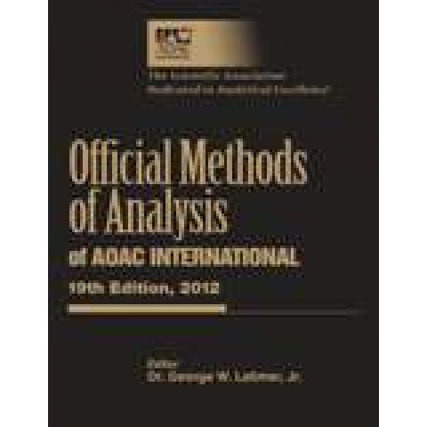 Official Methods of Analysis of AOAC INTERNATIONAL, 21st Edition 2019
