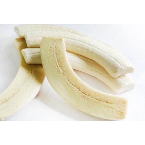 Banana metade sem casca