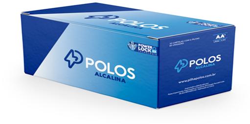 LR6 - Pilha AA (PEQUENA) ALCALINA POLOS - Box c/60 unids. (10 Cartelas c/6 unidades)