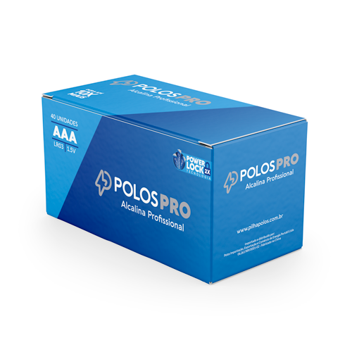 LR03 - Pilha AAA (PALITO) POLOSPRO - Box c/40 unids. (20 Shrink c/2 unidades)