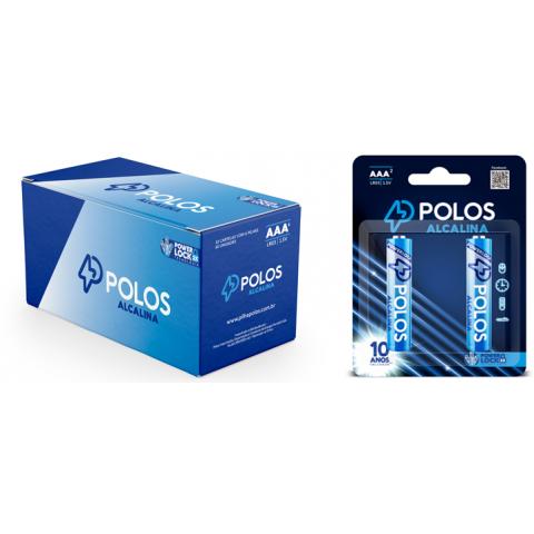 LR03 - Pilha AAA (PALITO) ALCALINA POLOS - Box c/24 unids. (12 Cartelas c/2 unidades)