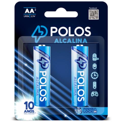 LR6 - Pilha AA (PEQUENA) ALCALINA POLOS - Cartela c/2 unidades