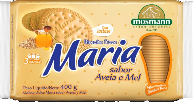 BISCOITO MARIA AVEIA E MEL SEM LACTOSE 400g