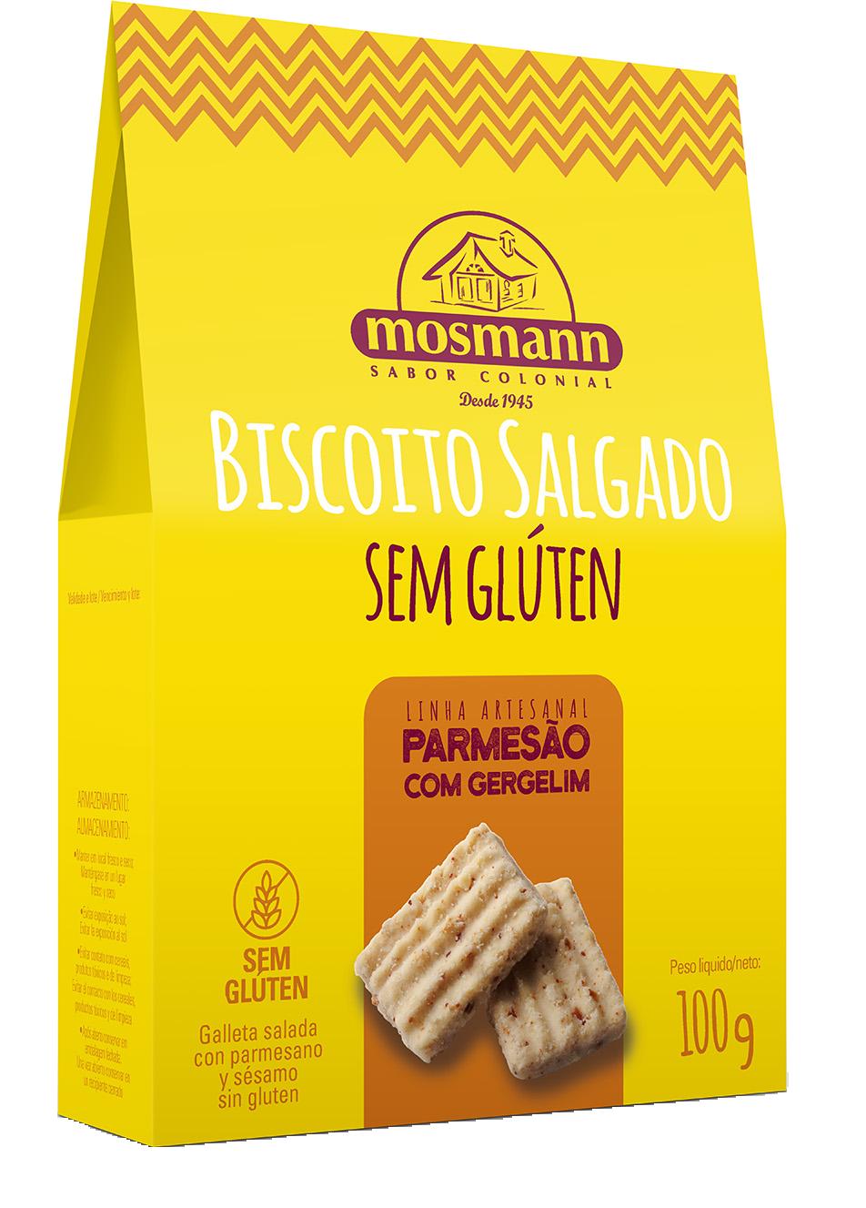 BISC SALGADO PARMESÃO COM GERGELIM SEM GLÚTEN 100g
