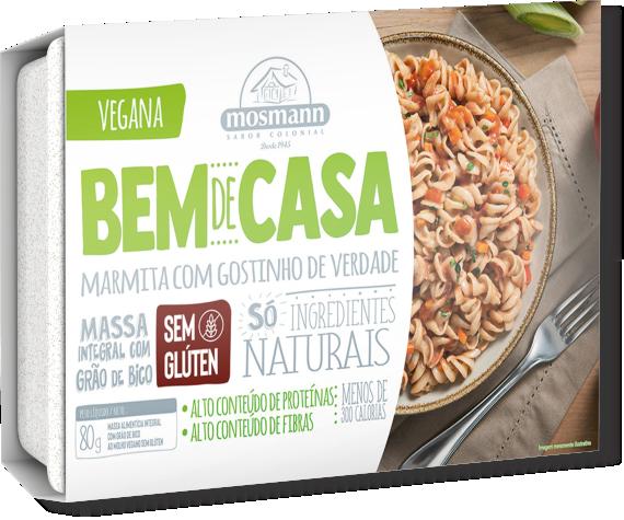Marmita de Massa de Grão de Bico Vegana Sem Glúten 80g