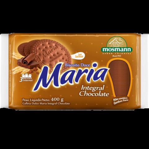 BISCOITO MARIA INTEGRAL CHOCOLATE SEM LACTOSE 400g