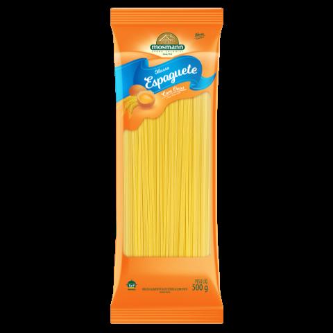 Massa Com Ovos Espaguete Reto 500g