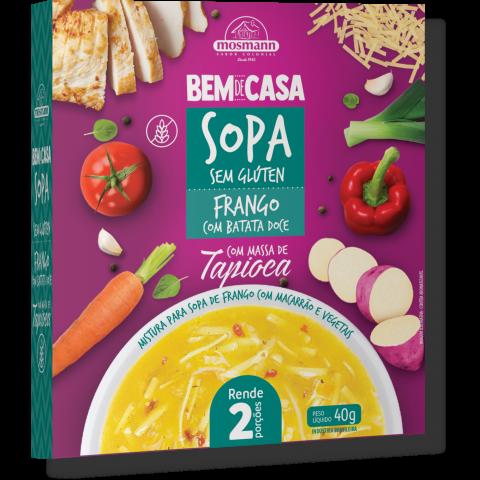 Sopa Sem Glúten de Frango com Massa de Tapioca e Vegetais 40g