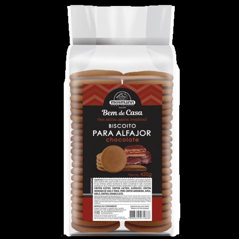 Biscoito para Alfajor Chocolate 420 g