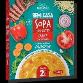 Sopa Sem Glúten de Carne com Massa de Tapioca e Legumes 40g