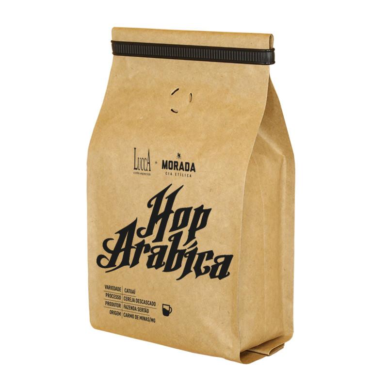 Café Especial torrado Hop Arábica - Pacote com 250 gramas