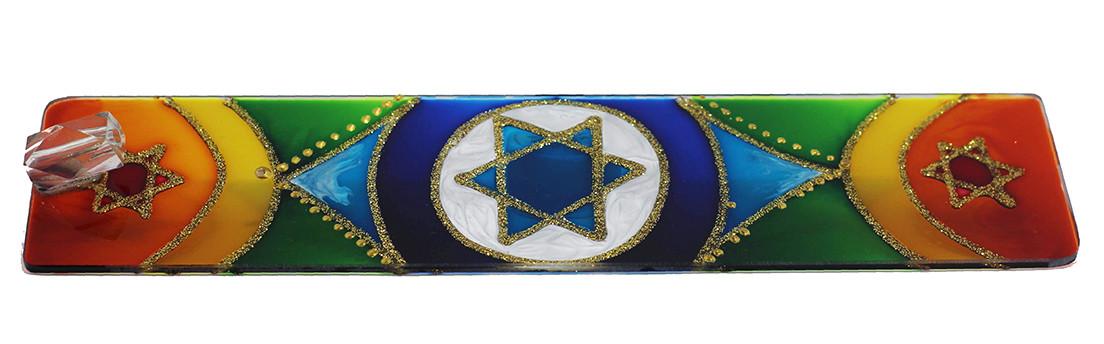 1621- Incensário de Vidro - Estrela de 6 Pontas