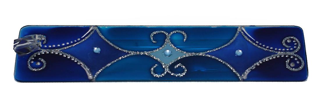 1630 - Incensário de Vidro - Azul (5x25)