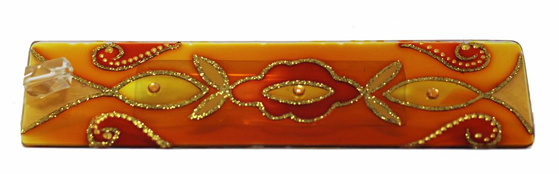 1632- Incensários de Vidro Laranja  (5x25)