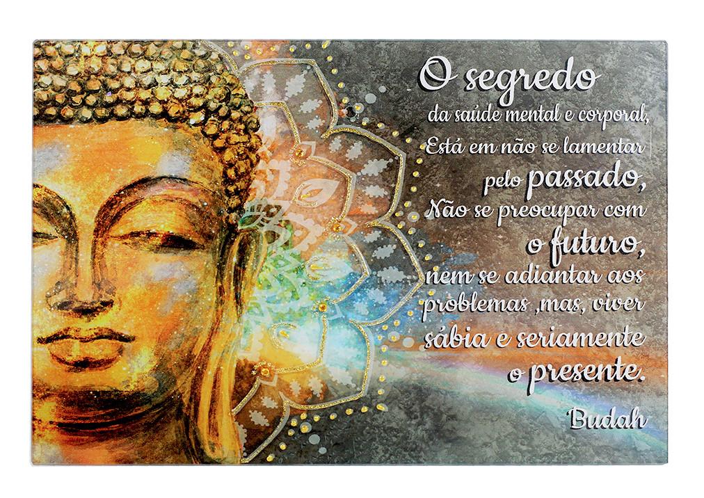 1748- Placa Mandala Buda O SEGREDO