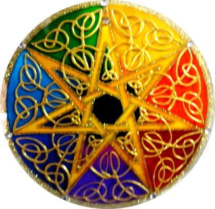 93- Mandala 20 cm  -Estrela 7 pontas