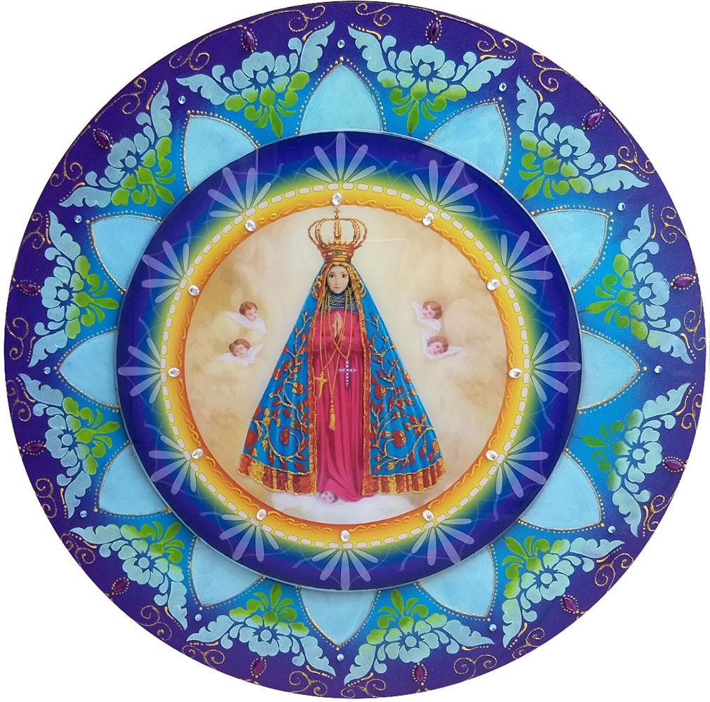 486-4 Mandala de Madeira Nossa Senhora - 60 cm