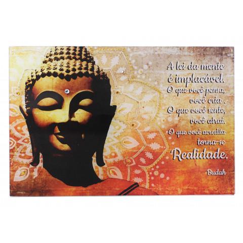 1749- Placa Mandala Buda  A REALIDADE