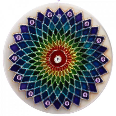 1112 - MANDALA ARCO IRIS -10 CM