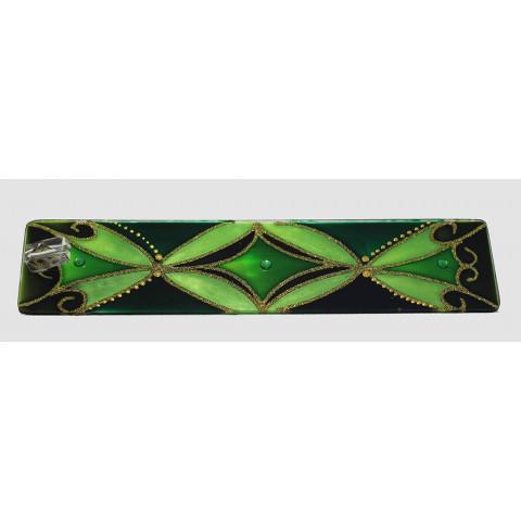 1631- Incensário de Vidro Verde (6x25)