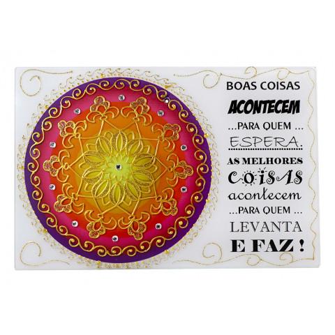 1743 - Placa Mandala Boas Coisas