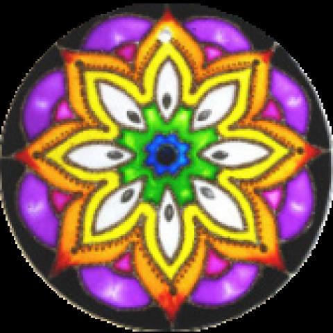 201- Mandala Floral -14 CM
