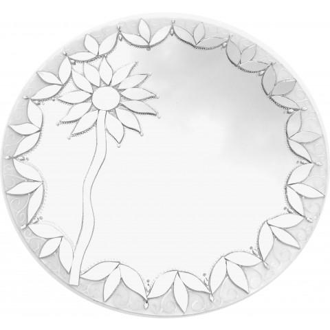 485 -  Espelho Girassol Branco (50cm)