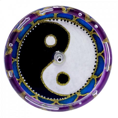 650-7-Incensário Redondo Yin Yang 10 cm