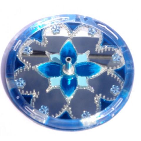650-1- Incensário Redondo Azul 10 cm