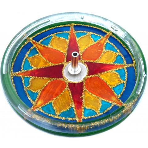 650-18 - Incensário Redondo SOL 10 cm