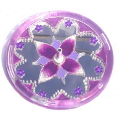 650-2-Incensário Redondo Lilás 10 cm