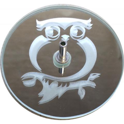 730-3  Incensário jato coruja 8 cm