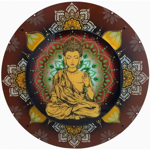 Mandala De Madeira Buda - 60 cm